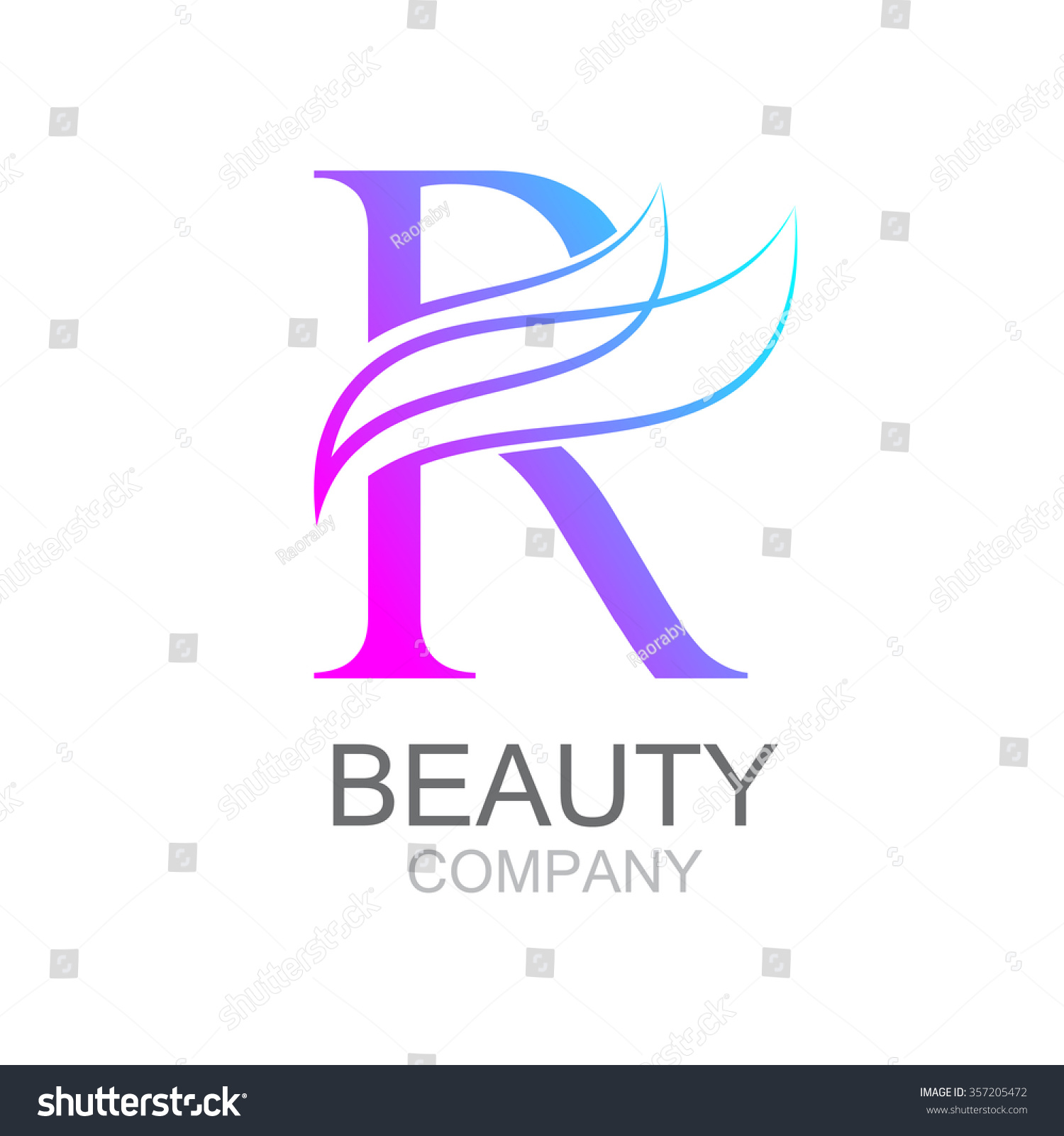 Abstract letter r logo design template stock photo photo vector abstract letter r logo design template with beauty industry and fashion logosmetics business thecheapjerseys Images