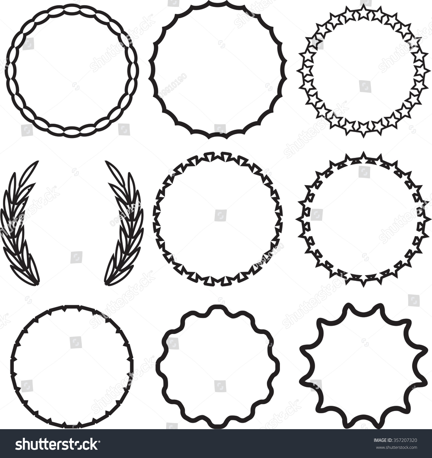 vintage clip art circle - photo #25