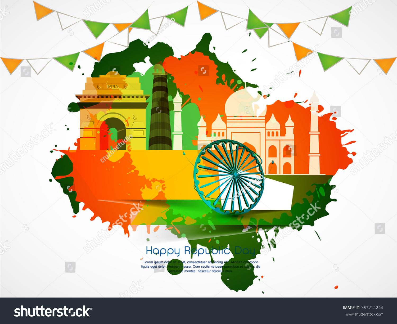 Indian Flag Theme: Indian Flag Theme Vector Illustration Background Stock