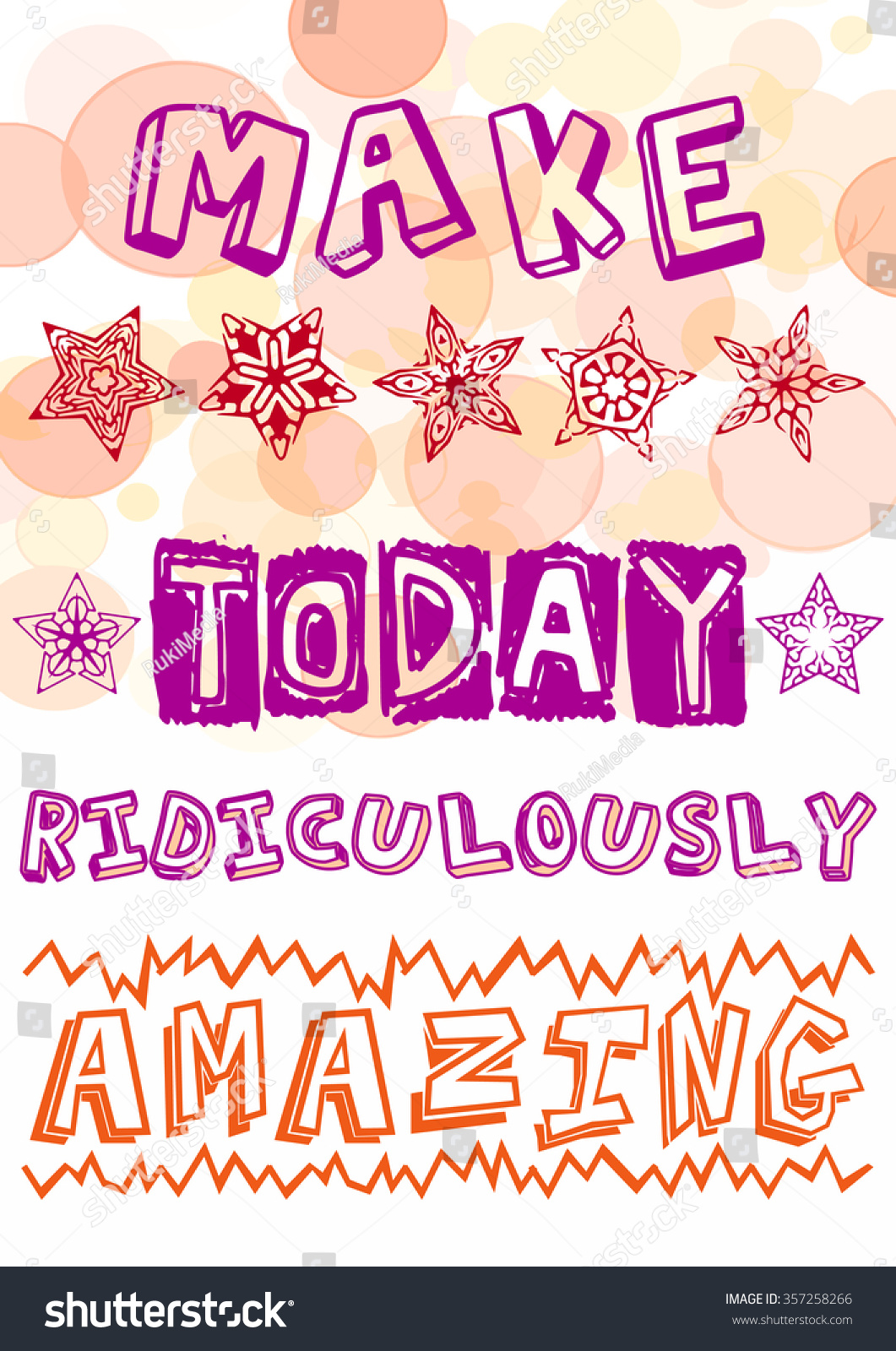 Colorful Tshirt Graphic Design Make Today Stock Vector Royalty Free