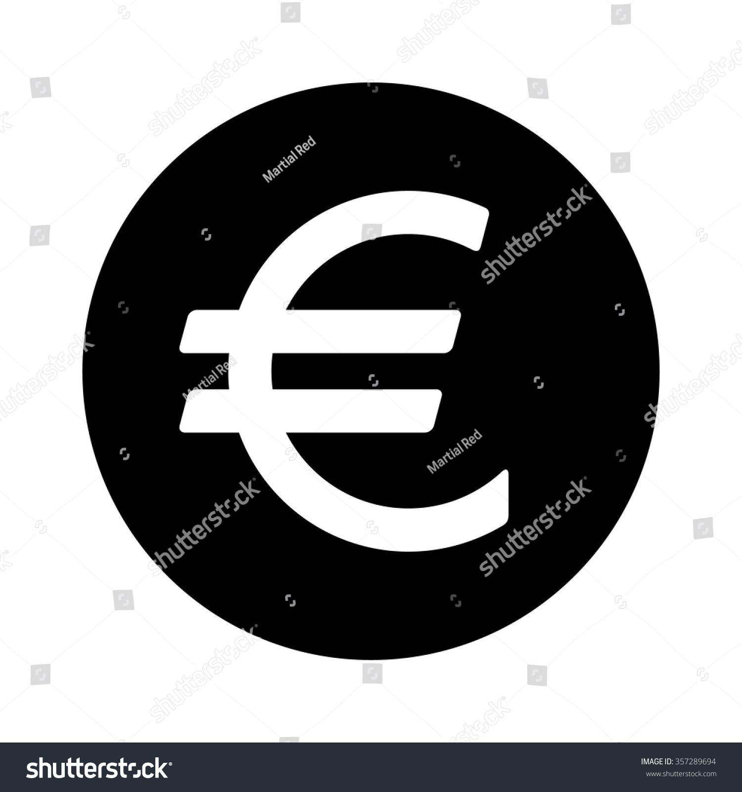 European euro currency symbol flat icon stock vector 357289694 european euro currency symbol flat icon for apps and websites buycottarizona Choice Image