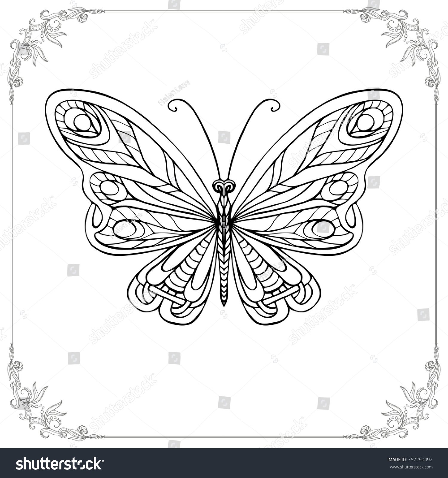 Coloring Book Adult Older Children Coloring Stock Vector 357290492 ...