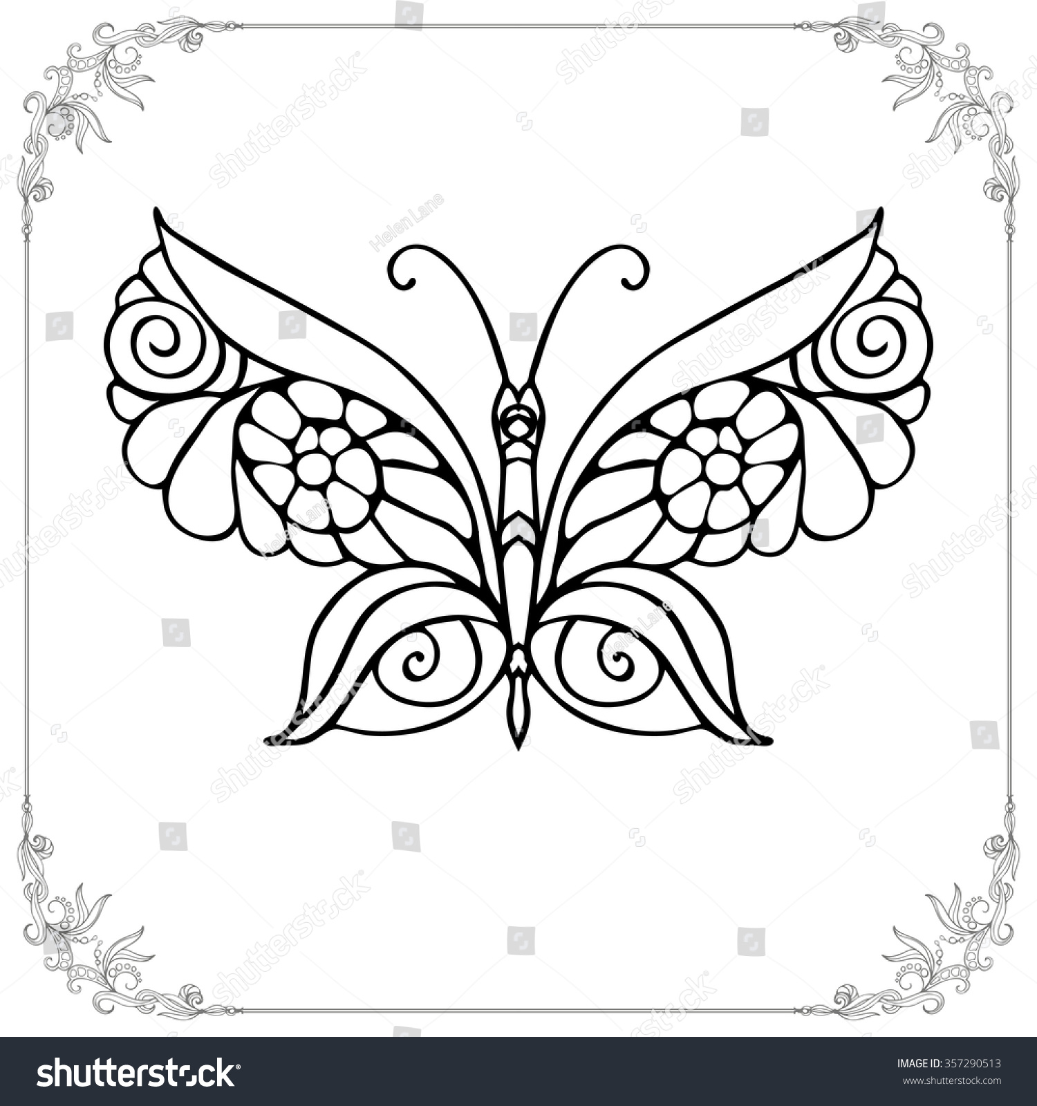 coloring book older children coloring stock vector 357290513