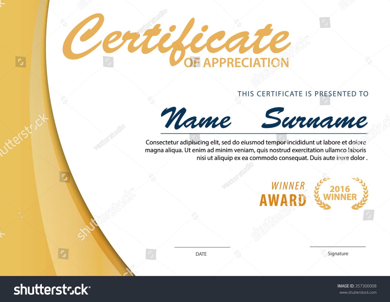 downloadable certificate template