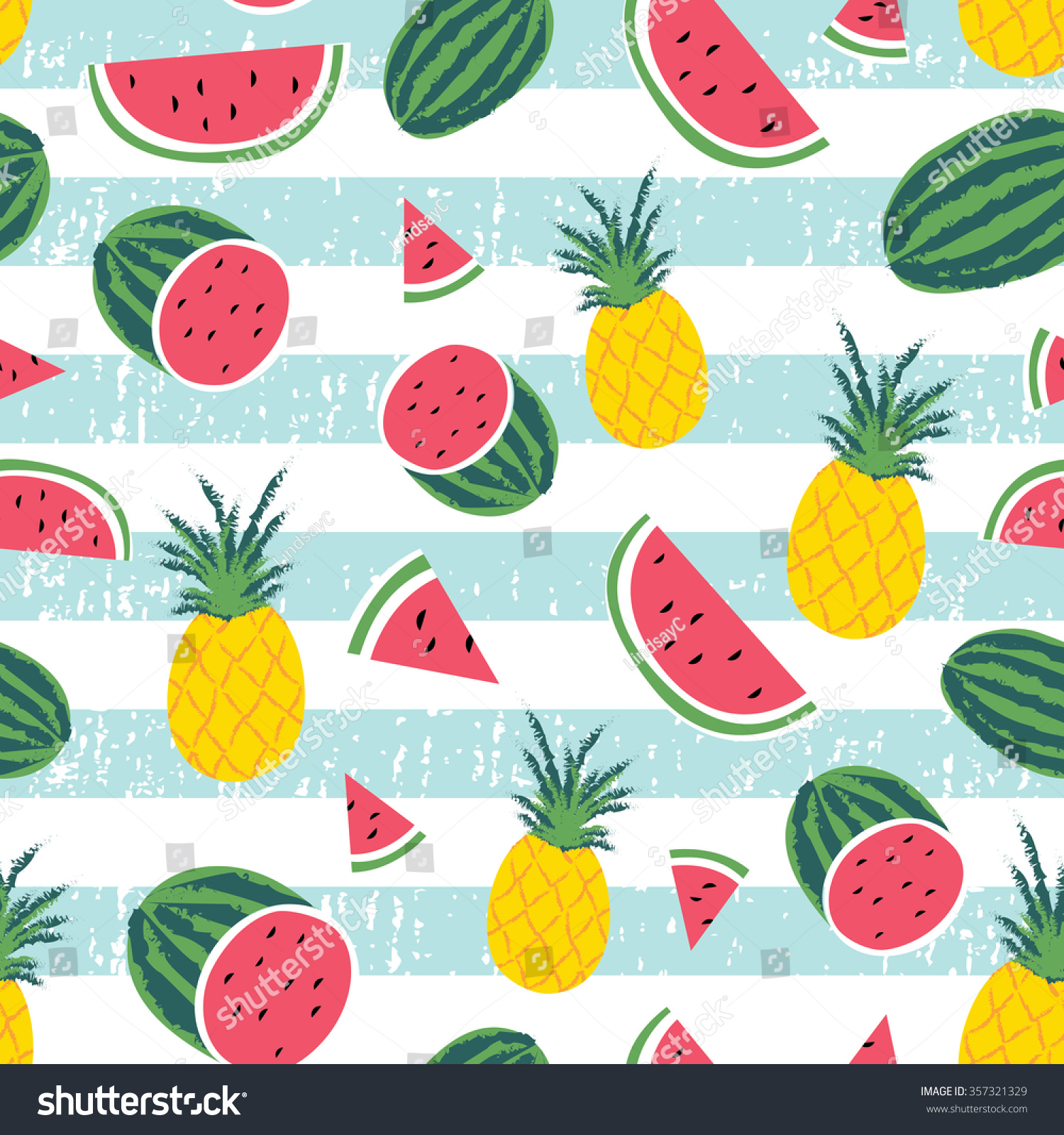 Vintage Pineapple Wallpaper Patterns