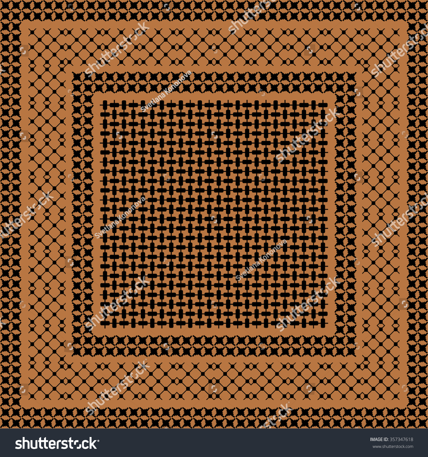 Squared Keffiyeh Vector Pattern Three Types Stock Vector