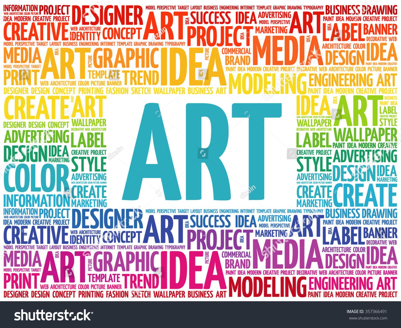 Art Word Cloud Creative Business Concept Background Stock Vector Shutterstock