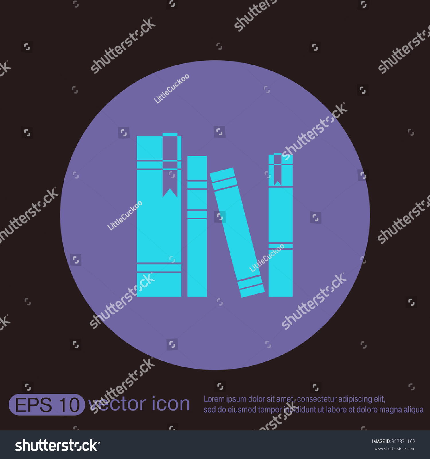 royalty book spine spines of books icon 357371162 stock book spine spines of books icon symbol of a science and literature stock vector