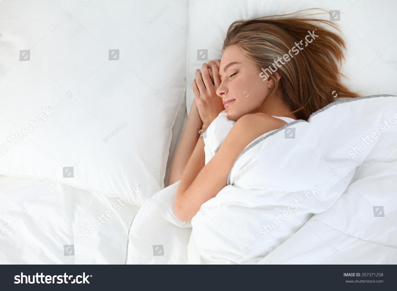 Beautiful Girl Sleeps Bedroom Stock Photo 357371258 Shutterstock
