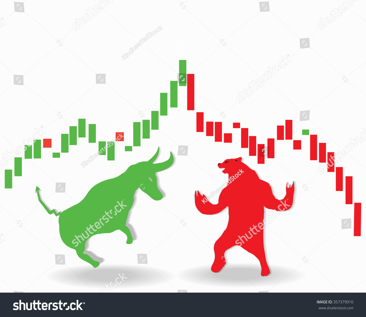 Stock market concept animal symbols buy stock vector 357379910 stock market concept of the animal symbols for buy and sell as a bull and bear buycottarizona