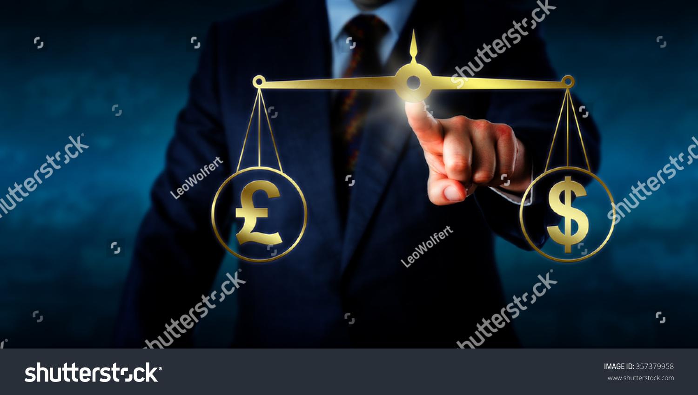 Investor Trading British Pound Sterling Par Stock Photo 357379958 Dollar