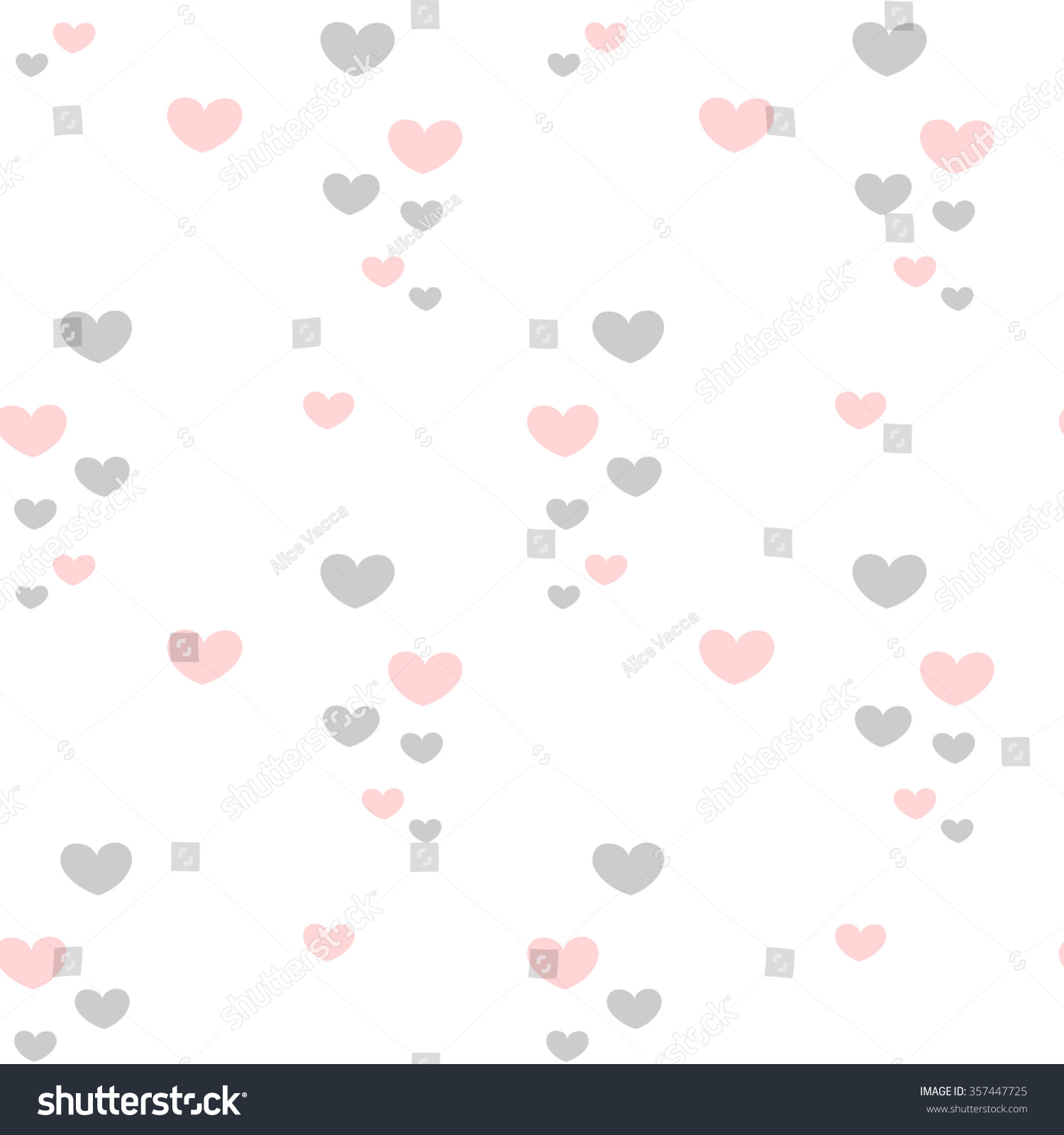 cute lovely romantic pink grey hearts stock vector royalty free