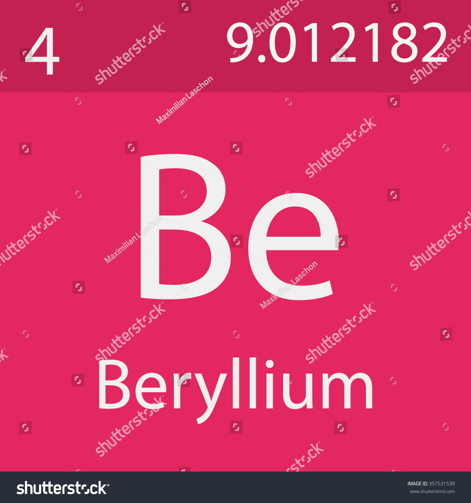 Beryllium chemical symbol stock vector 357531539 shutterstock beryllium chemical symbol buycottarizona Image collections