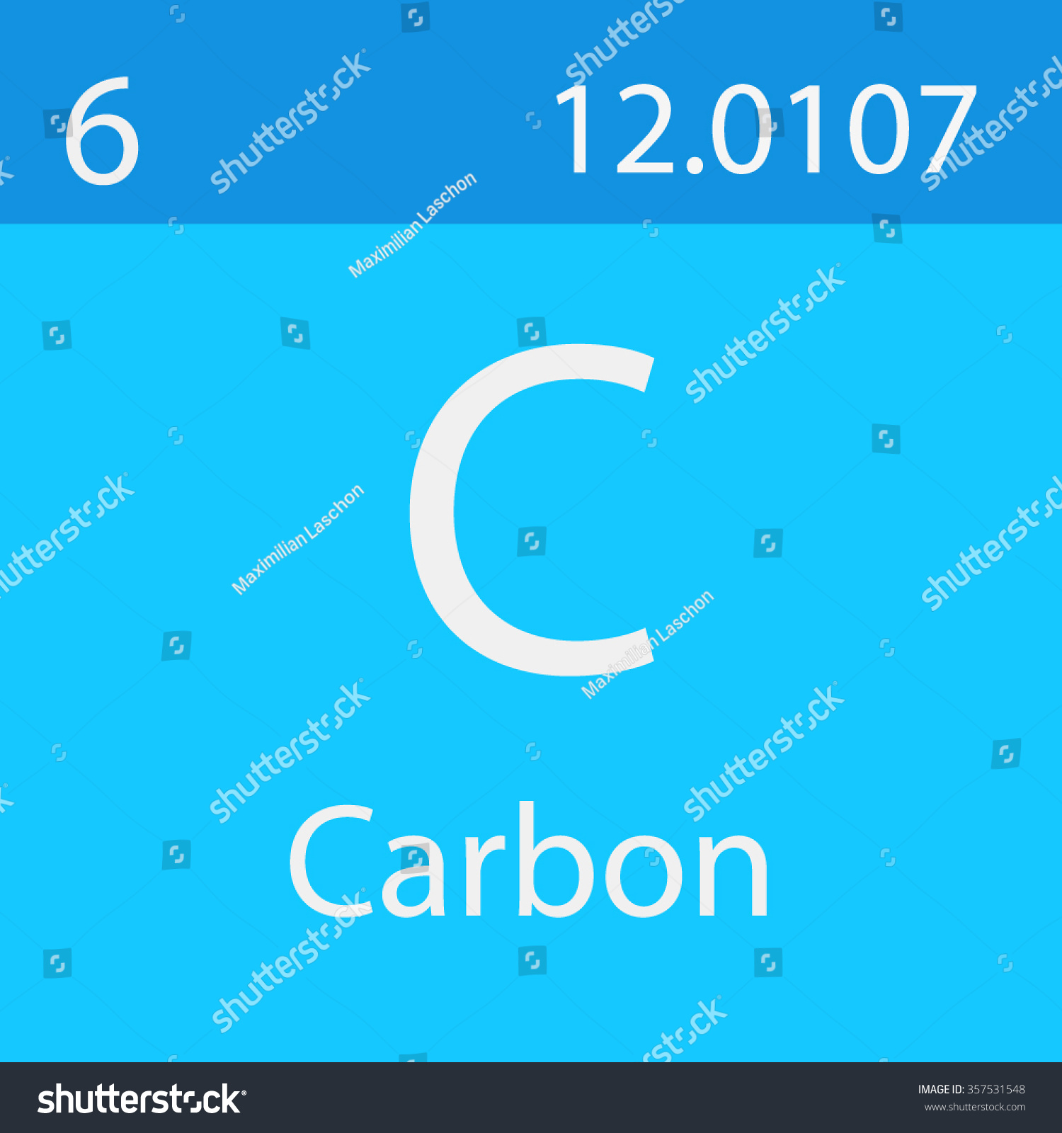 Carbon Chemical Symbol Stock Vector Royalty Free 357531548
