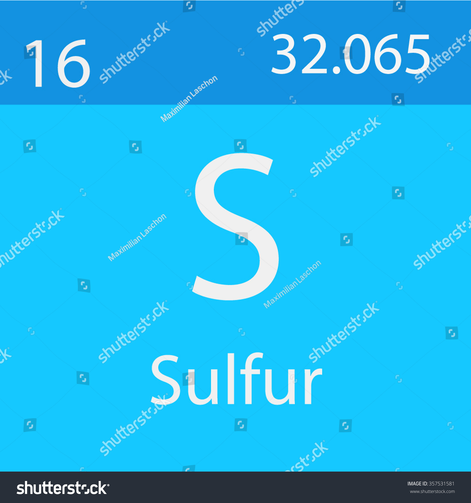 Sulfur Chemical Symbol Stock Vector Royalty Free 357531581