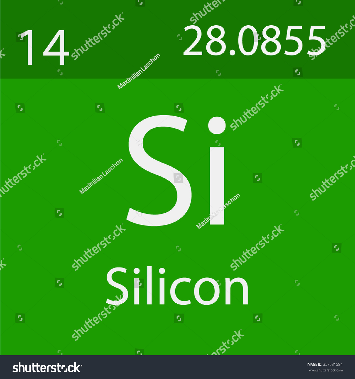 Silicon Chemical Symbol Stock Vector Royalty Free 357531584