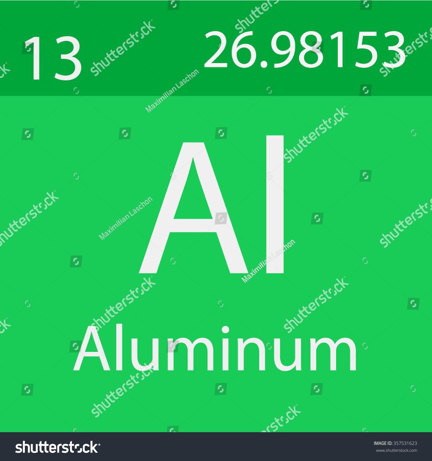 Aluminum Chemical Symbol Stock Vector Royalty Free 357531623