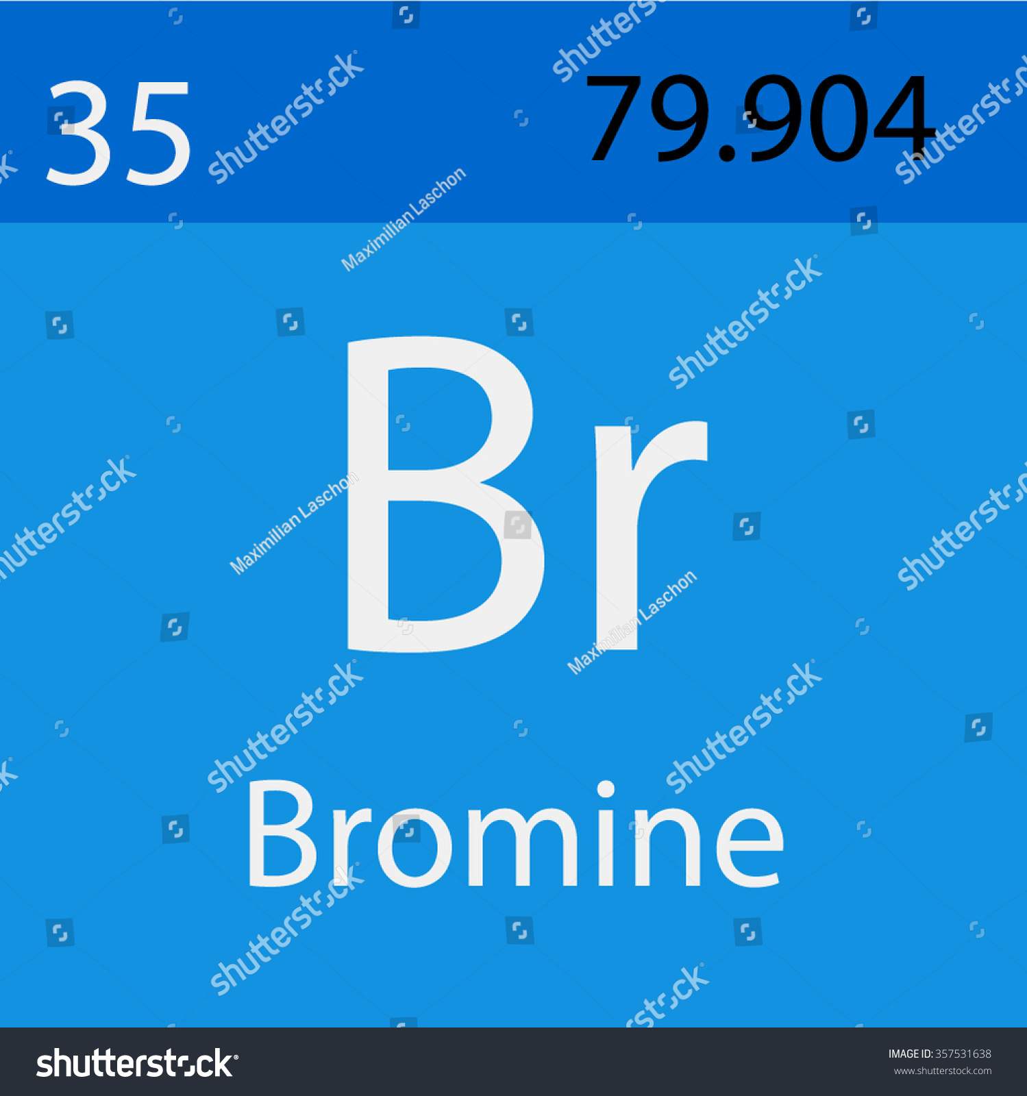 Bromine Chemical Symbol Stock Vector Royalty Free 357531638