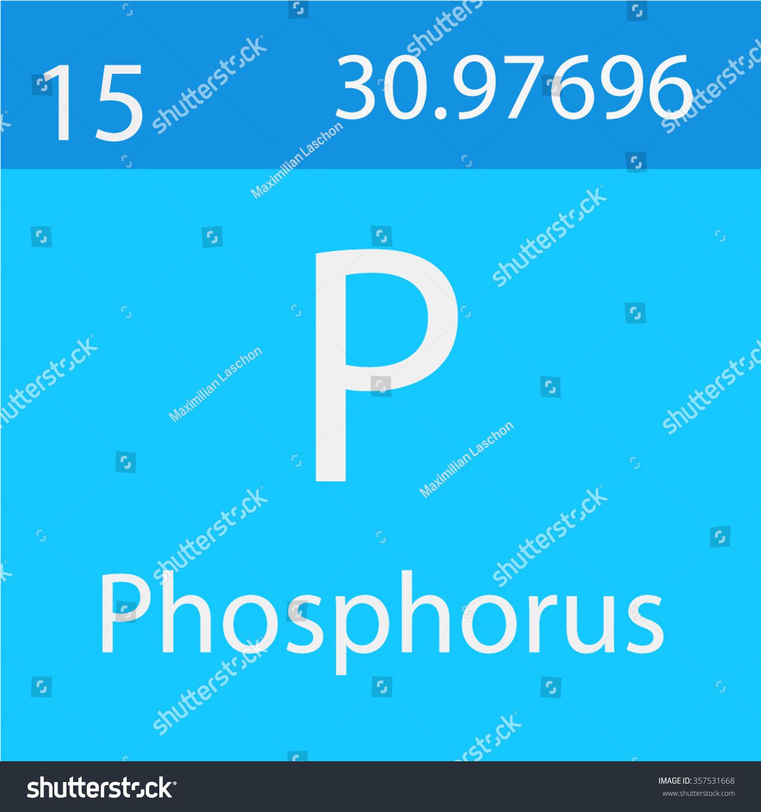 Phosphorus Chemical Symbol Stock Vector Royalty Free 357531668