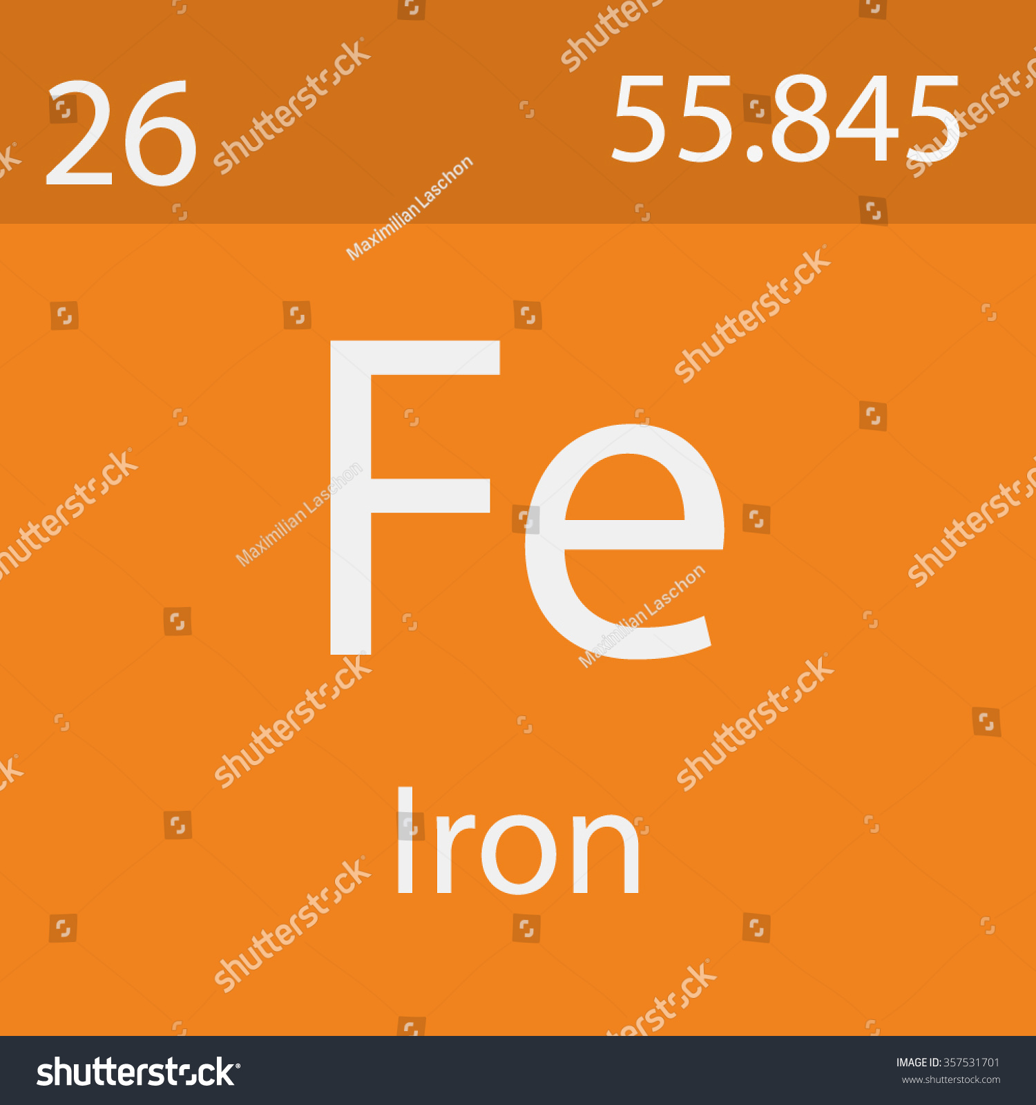 Iron chemical symbol stock vector 357531701 shutterstock iron chemical symbol gamestrikefo Image collections