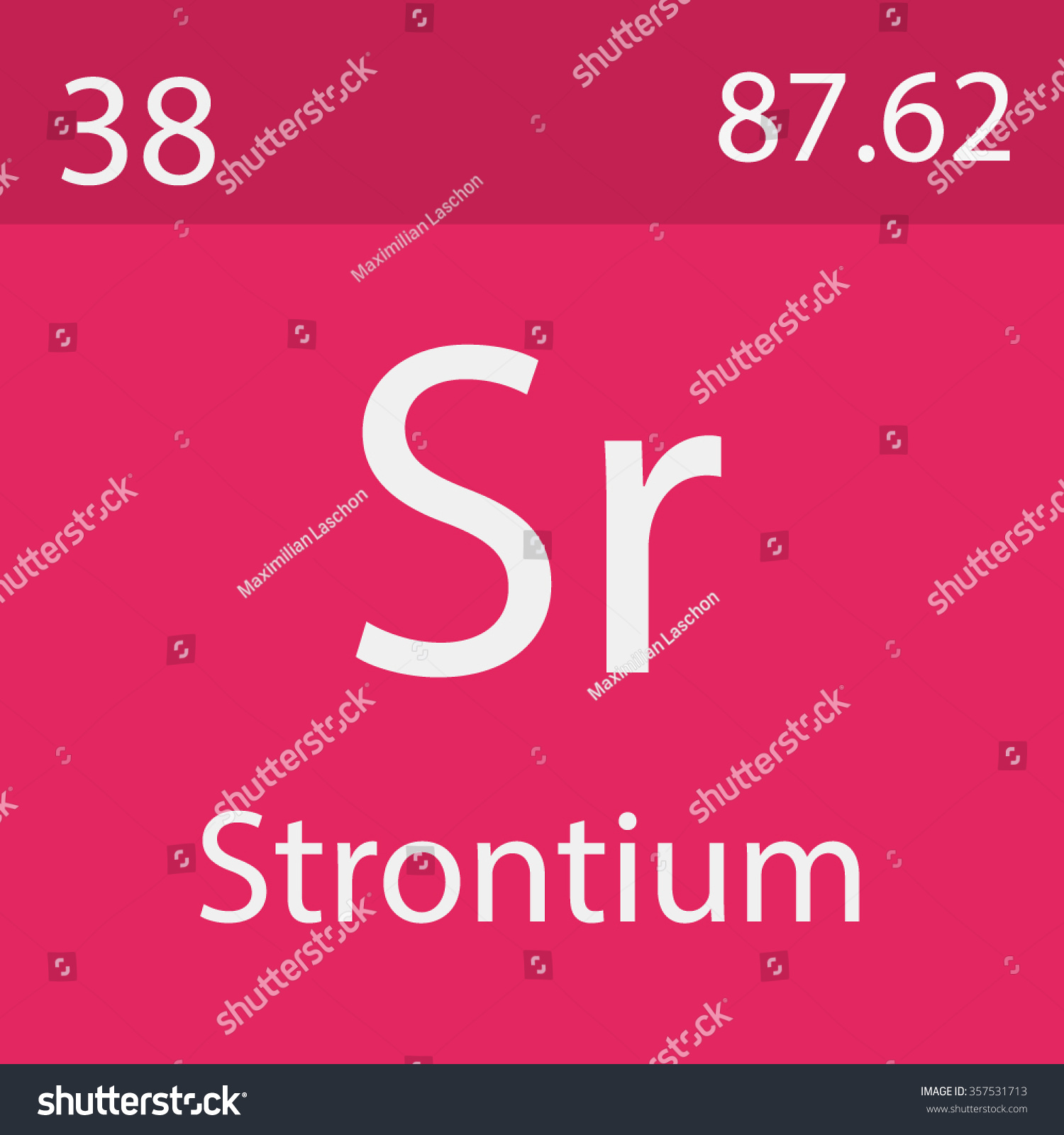 Strontium Chemical Symbol Stock Vector Royalty Free 357531713