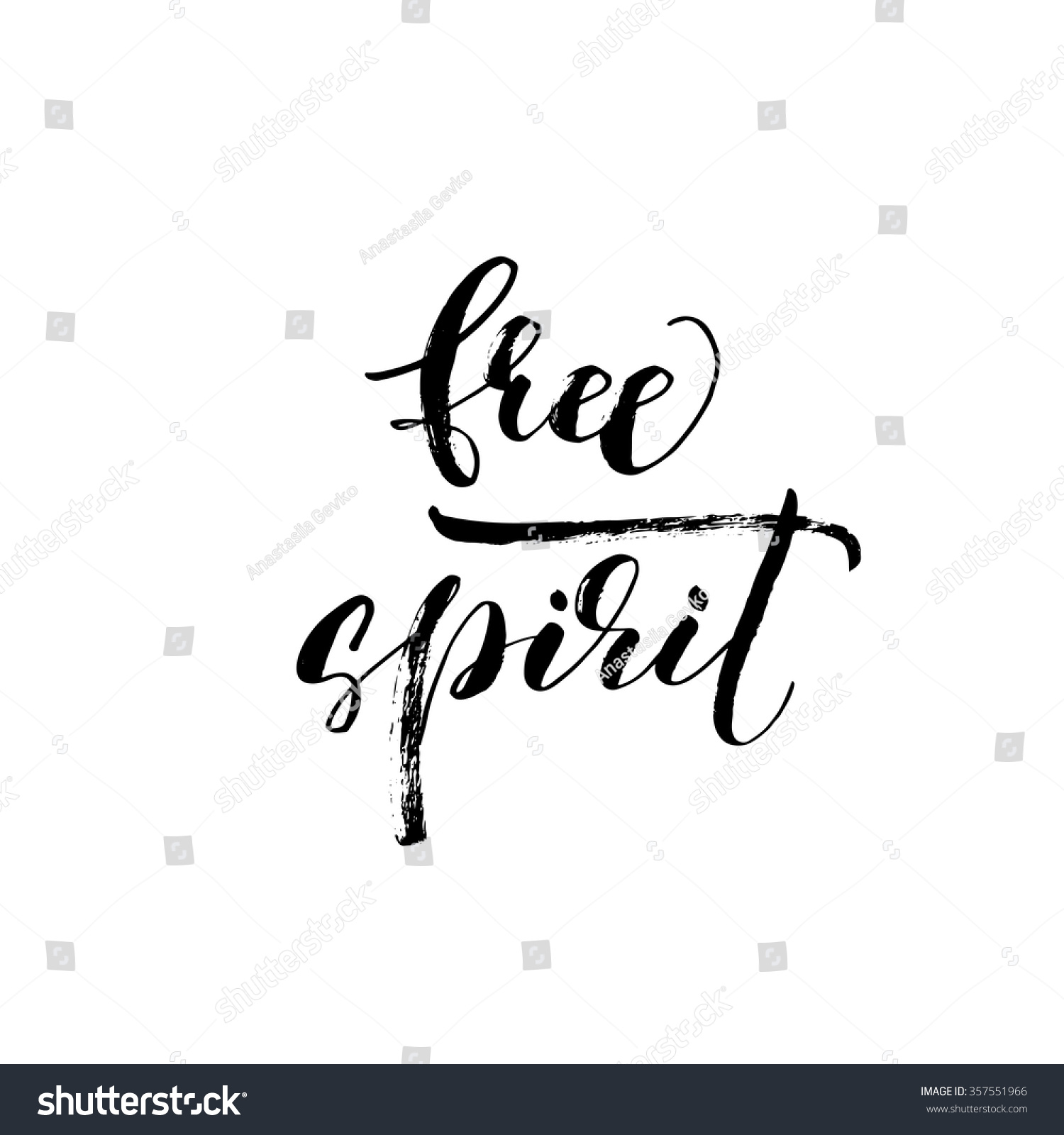 Free spirit card poster hand drawn stock vector