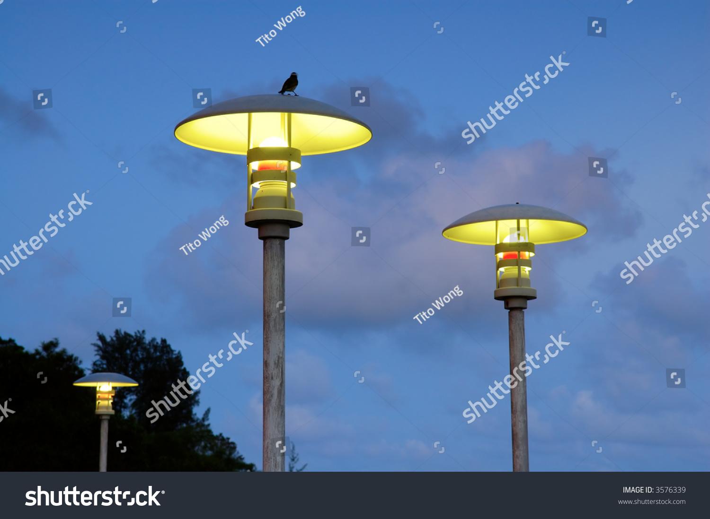 Modern Street Lamps Over Blue Sky Stock Photo 3576339 - Shutterstock for Modern Street Lamps  113lpg
