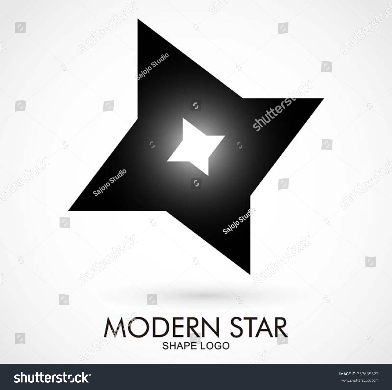 Ninja Star Of Steel Sharp Abstract Vector And Logo Design