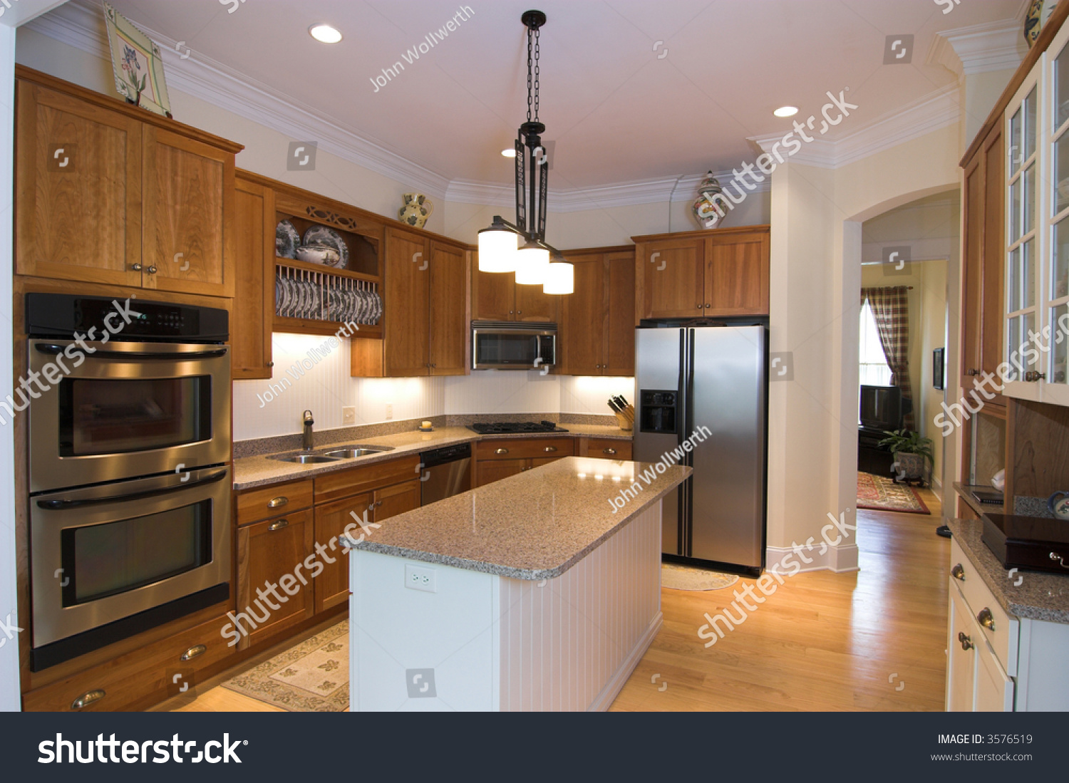 Luxurious modern kitchen with appliances stock photo 3576519 shutterstock - Luxurious kitchen appliances ...