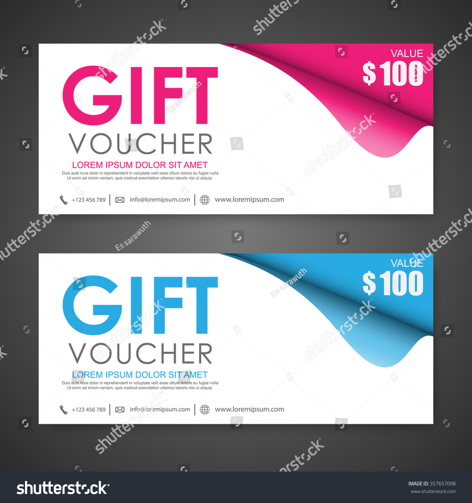 voucher gift certificate coupon template stock vector. Black Bedroom Furniture Sets. Home Design Ideas