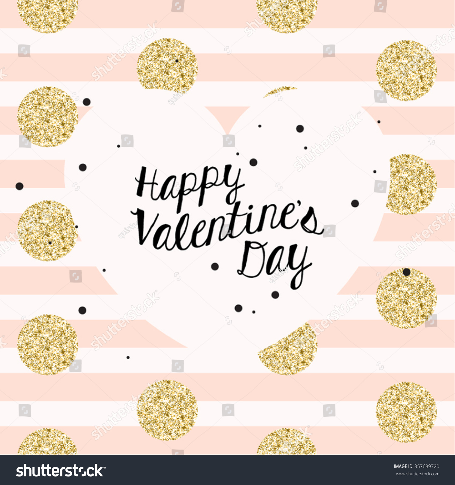 chic modern happy valentines day vector stock vector 357689720
