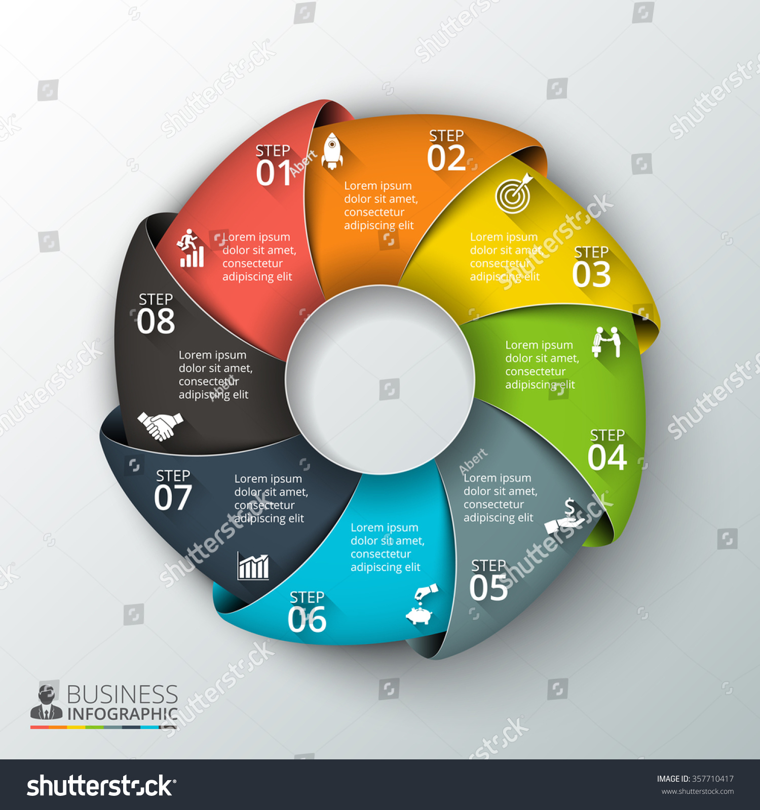 Vector circle infographic template cycle diagram stock photo photo vector circle infographic template for cycle diagram graph presentation and round chart ccuart Choice Image