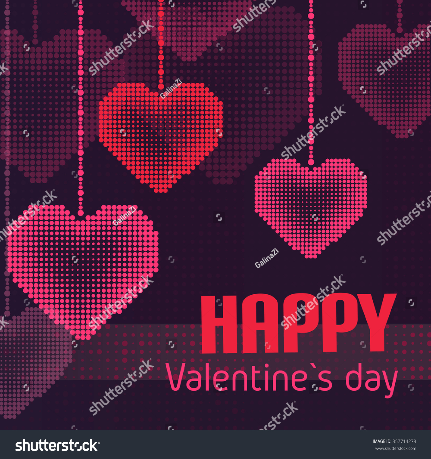 Happy valentines day greeting card hearts stock vector 357714278 happy valentines day greeting card with hearts halftone vector background kristyandbryce Image collections