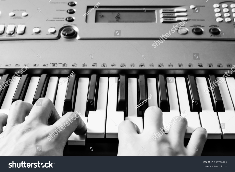 Piano keyboard music instrument black white stock photo 357730799 piano keyboard music instrument black and white key play sound chord hexwebz Images