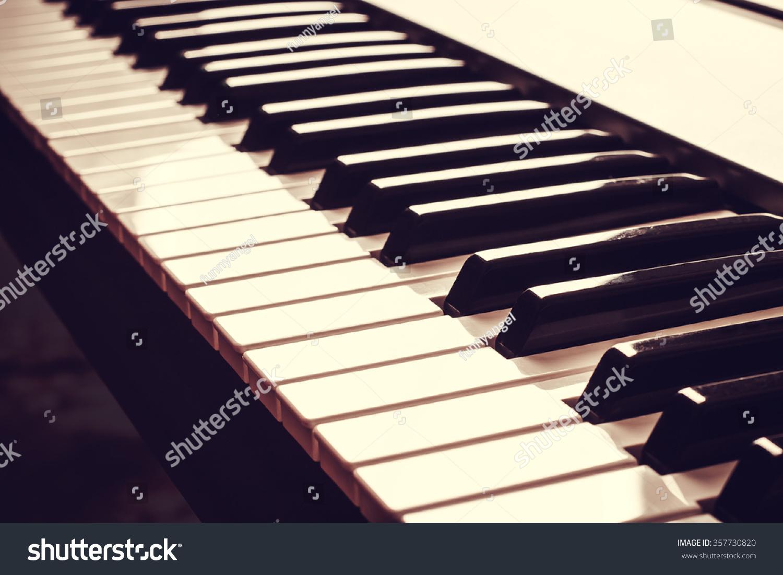 Piano keyboard music instrument black white stock photo 357730820 piano keyboard music instrument black and white key play sound chord hexwebz Images