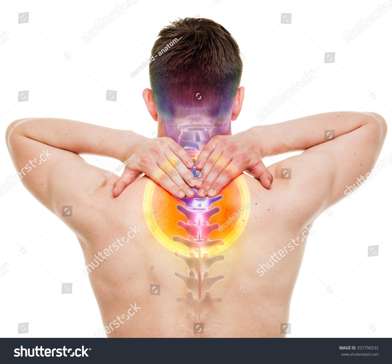 Neck Pain Male Hurt Cervical Spine Stock Photo Edit Now 357796532