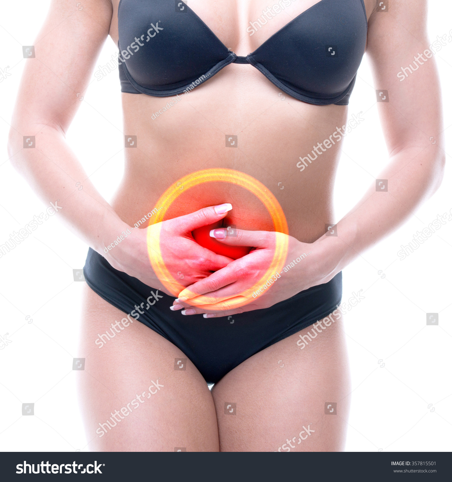 Menstruation Female Pain Periods Real Female Stock Photo (Edit Now ...
