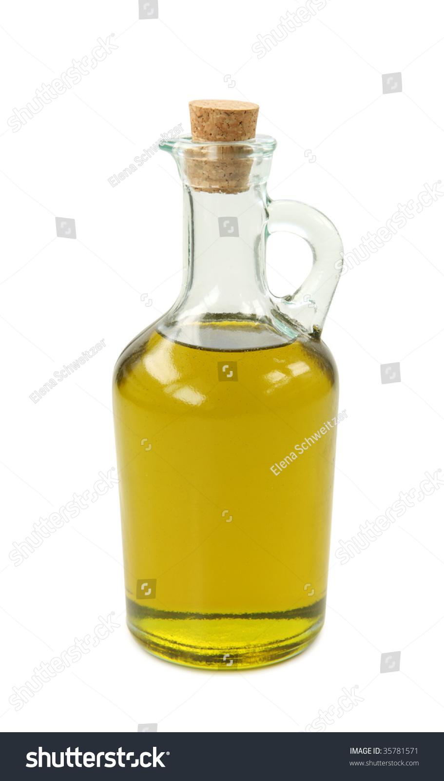 Bottle Olive Oil On White Background Stock Photo Edit Now