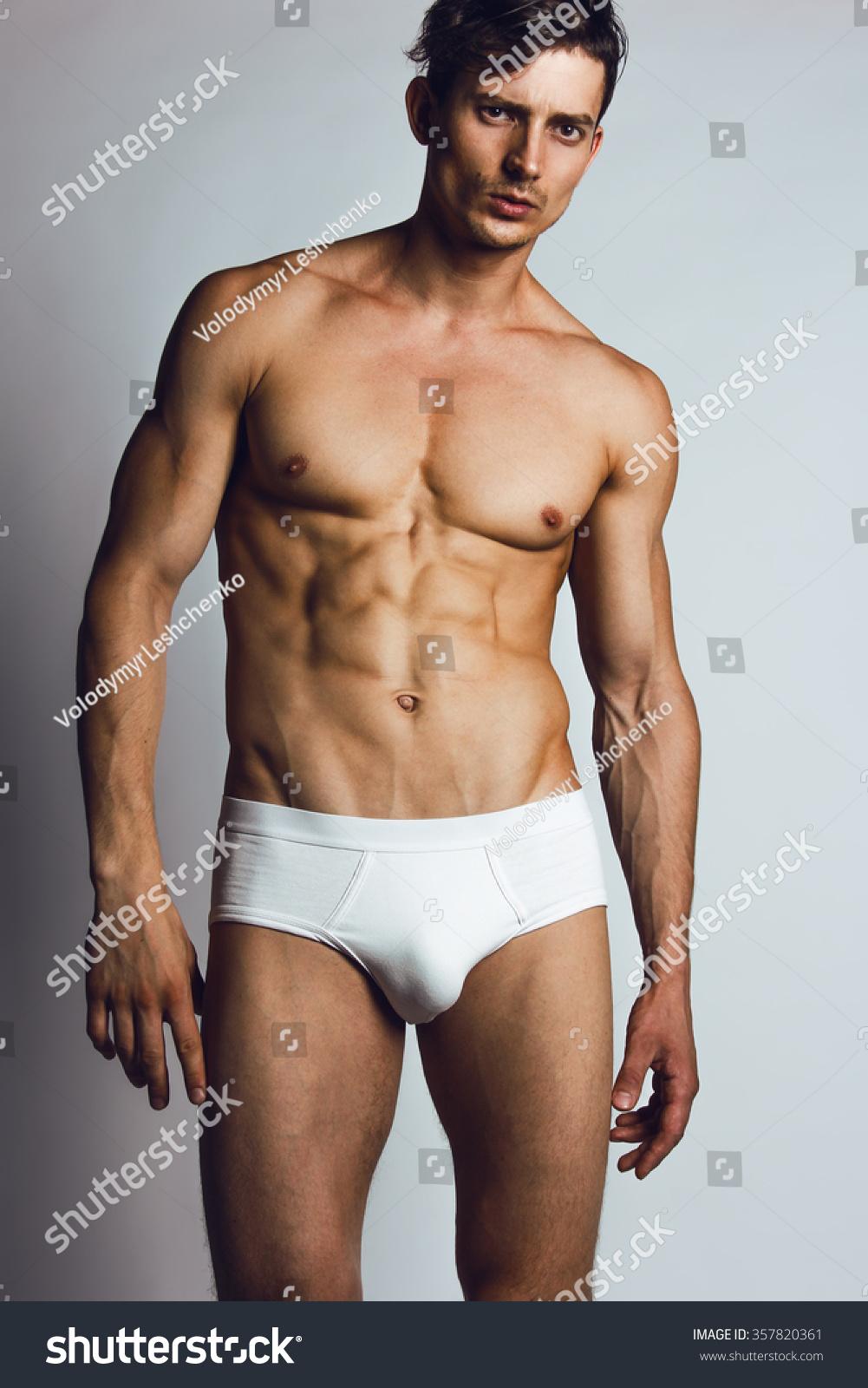 Male Swimwear Underwear Concept Handsome Muscular Stock ...