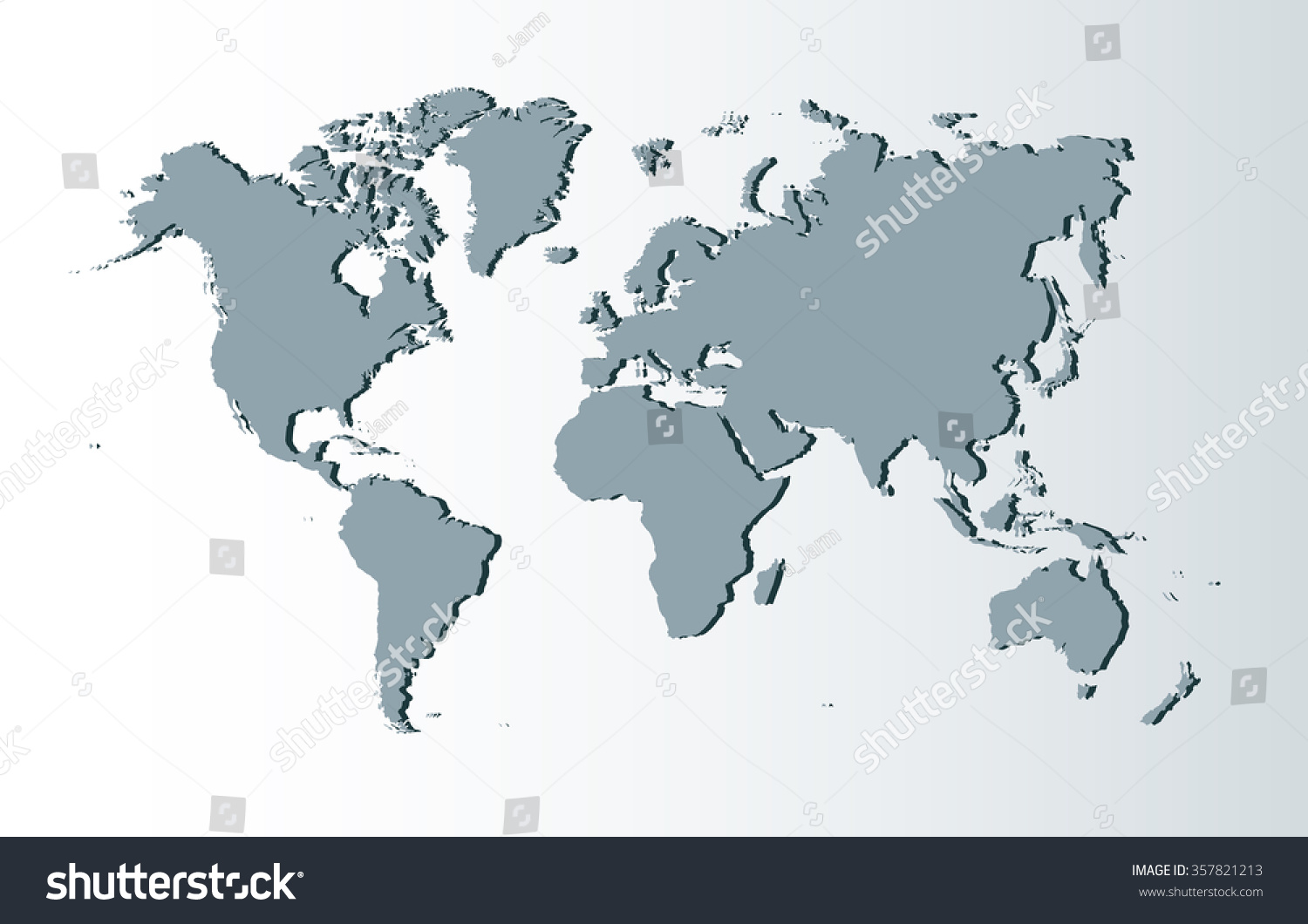 Grey 3d world map vector illustration vectores en stock 357821213 grey 3d world map vector illustration gumiabroncs Images