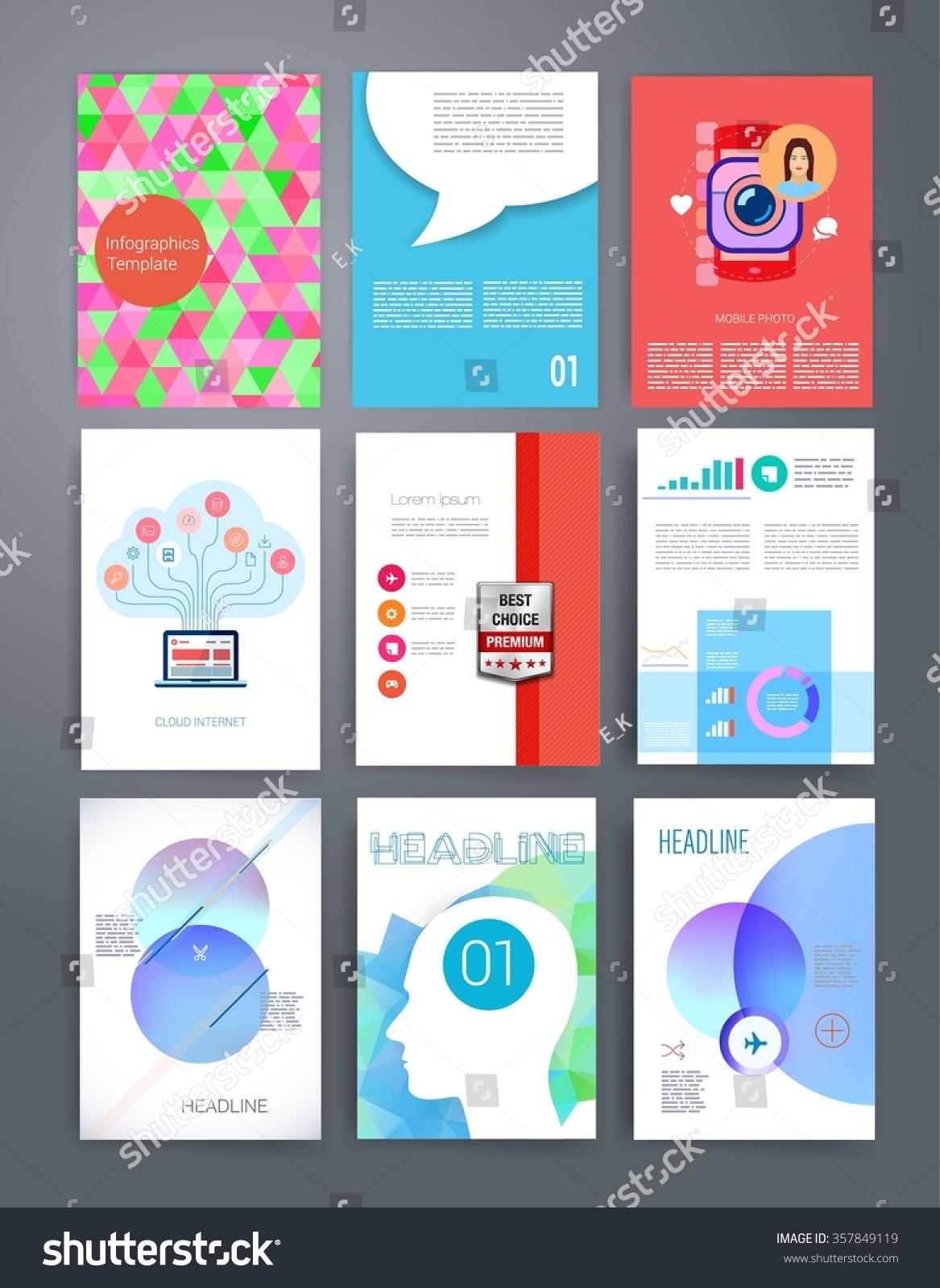 Brochure Design Template Set Templates Design Stock Vector Royalty