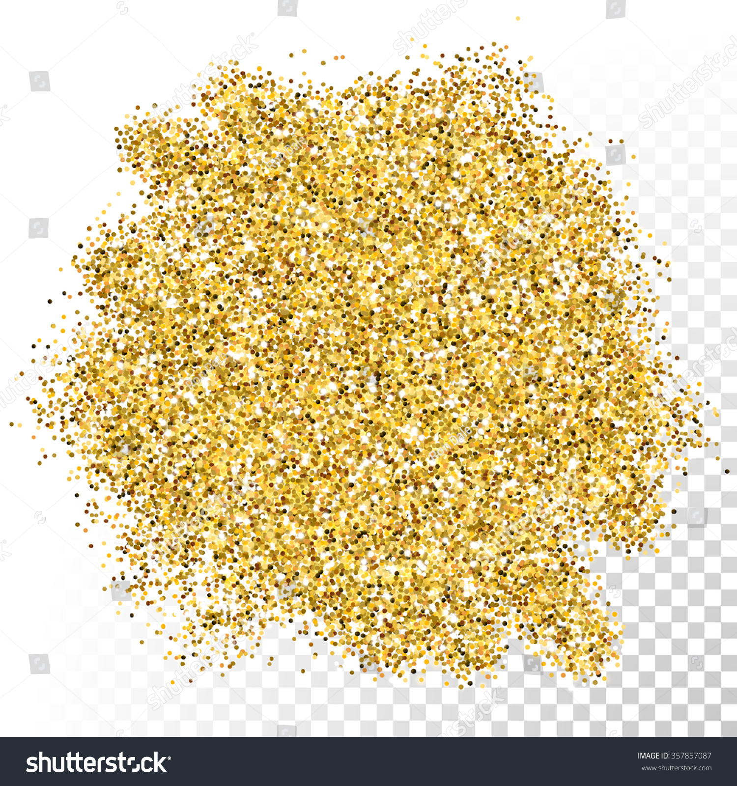 Gold glitter bright vector transparent background golden sparkles - Vector Gold Glitter Texture Gold Sparkles On Transparent Background