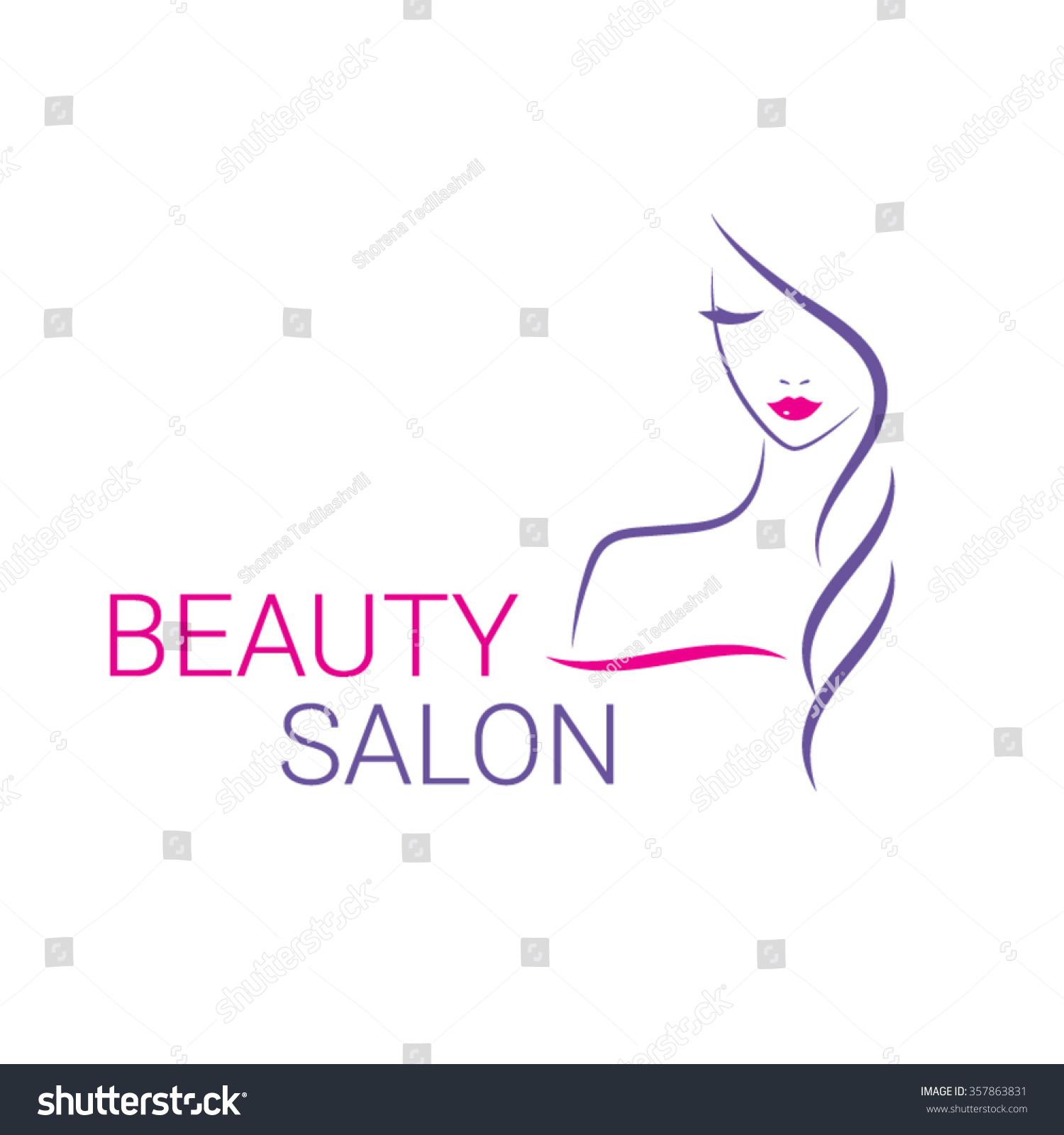 Beautiful woman vector logo template hair stock vector for Beauty hair salon