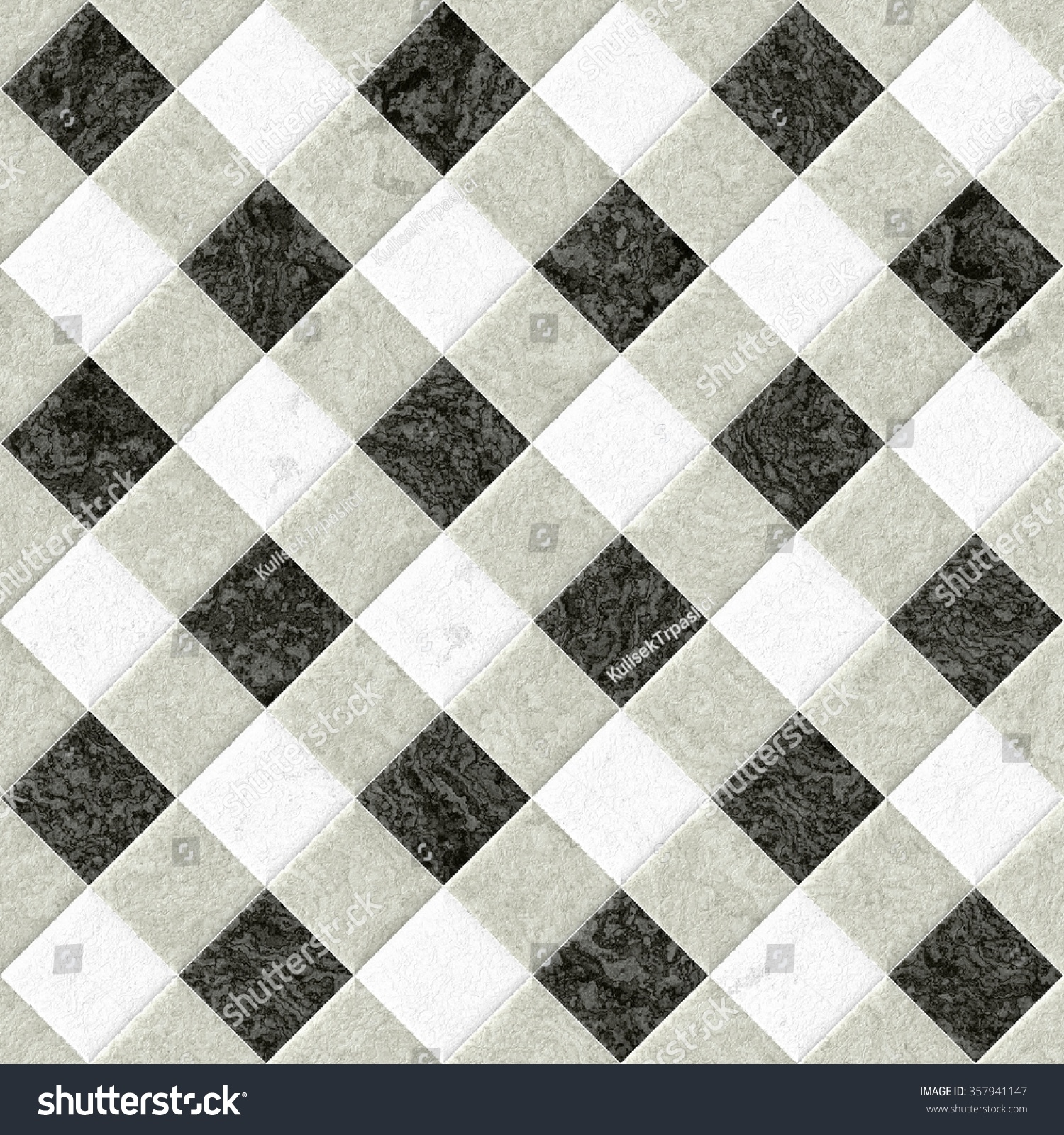 grey white paving with texture black floor tiles. Greywhite Paving Texture Black Floor Tiles Stock Illustration