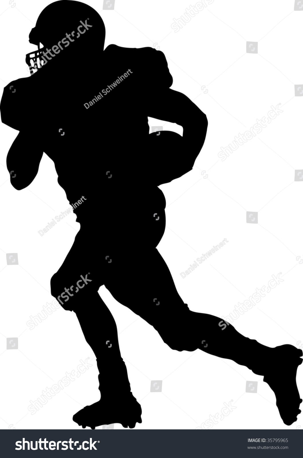 Football Player Running Without Ball