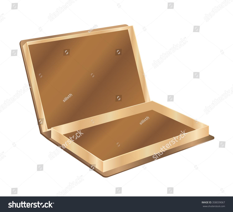 3 D Wooden Box Stock Vector Shutterstock
