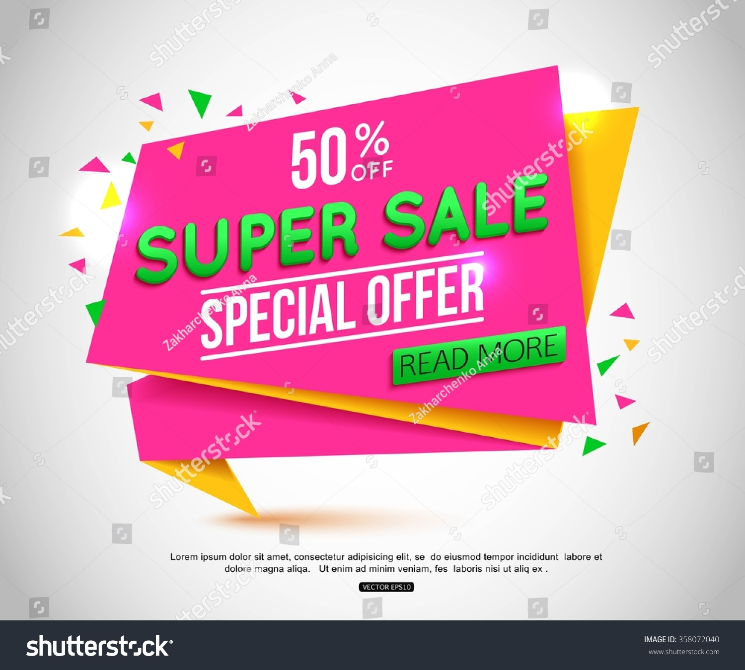 Sale Banner Design Sale Tag Can Stock Vector 358072040 - Shutterstock