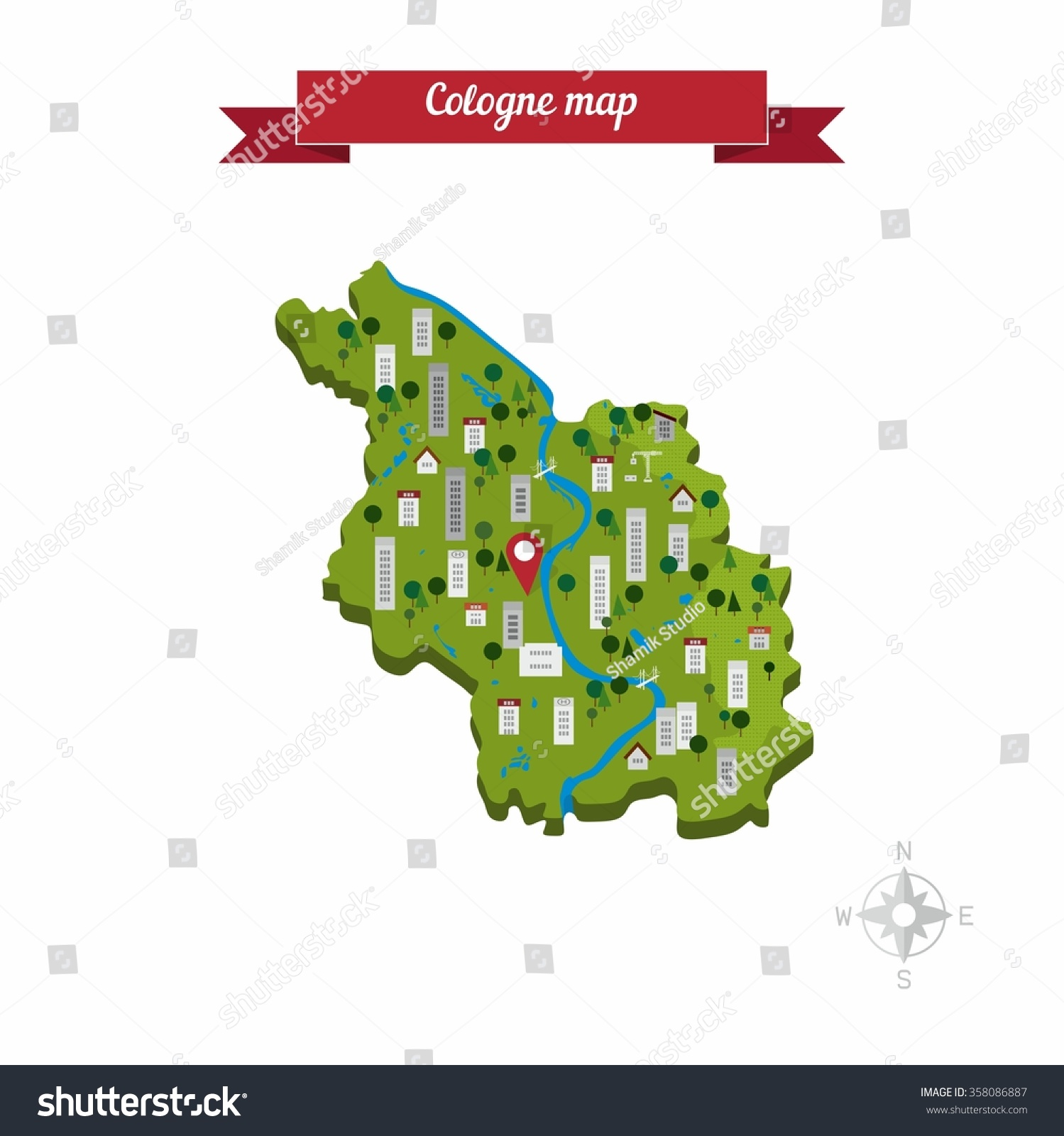Cologne germany map flat style design stock photo photo vector cologne germany map flat style design vector gumiabroncs Images