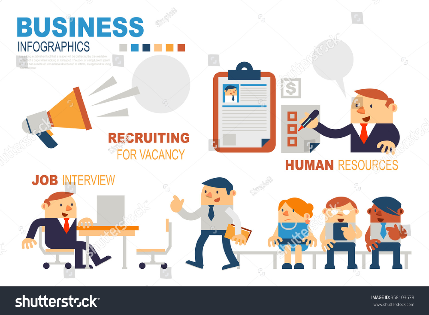 Vector Illustration Human Resources Personnel Recruitment