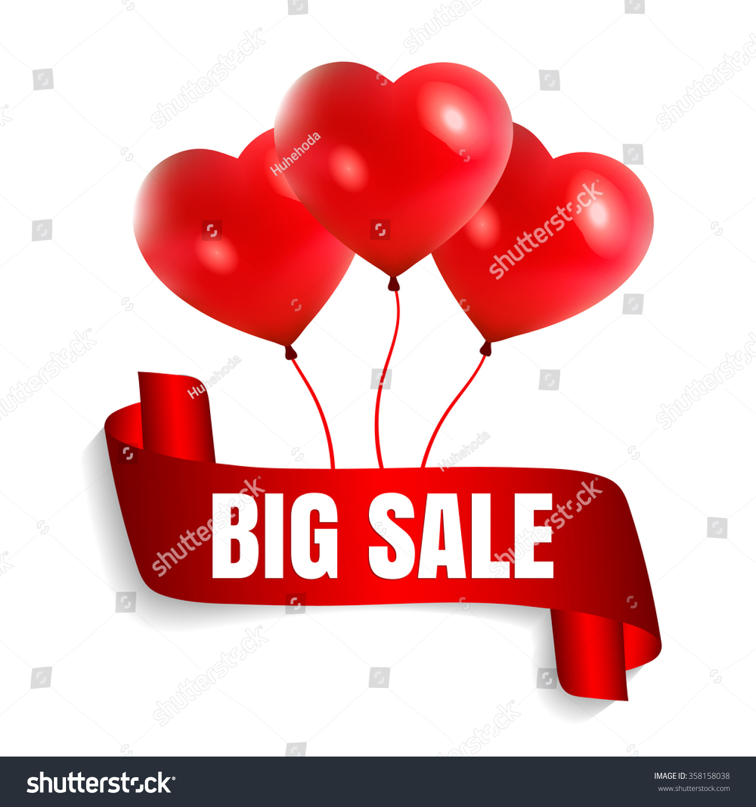 Happy Valentines Day Big Sale Card Vector 358158038 – Big Valentine Card